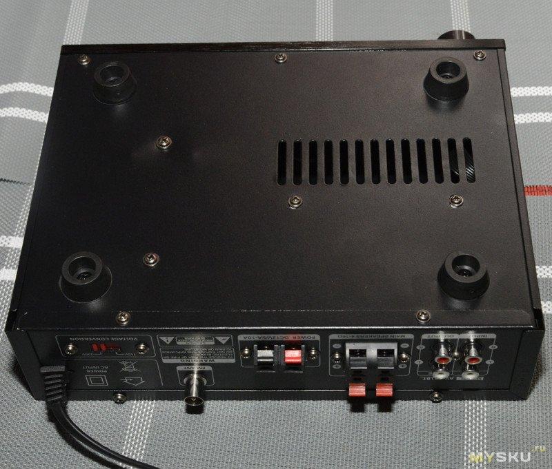 Усилитель мощности звука SUNBUCK AV-501BT. Музыкальный центр для гаража и вечеринок на природе.