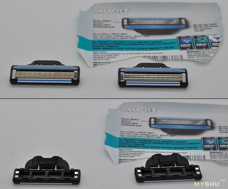 Кассеты (8 шт.) для Gillette Mach 3 из Китая