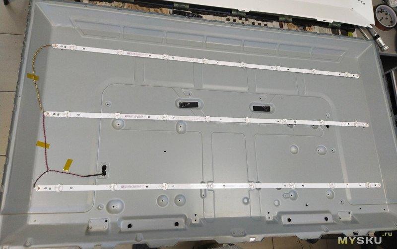 Замена подсветки телевизора Samsung UE43J5202AU