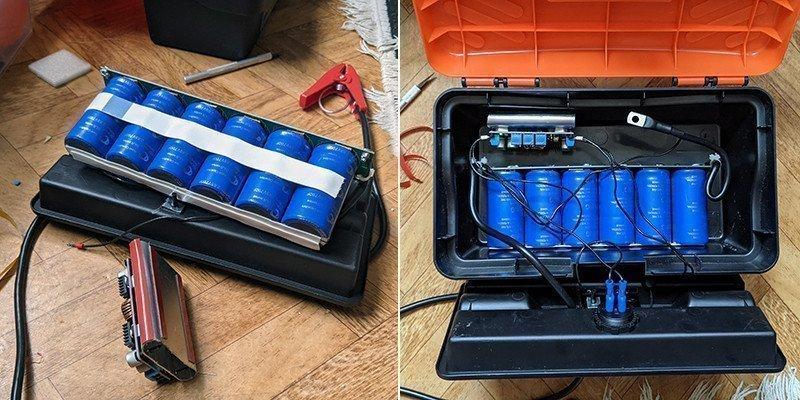 Суперконденсаторный джамп стартер v2.0
