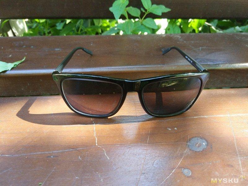 Солнечные очки с поляризацией и диоптриями для близоруких (миопия).