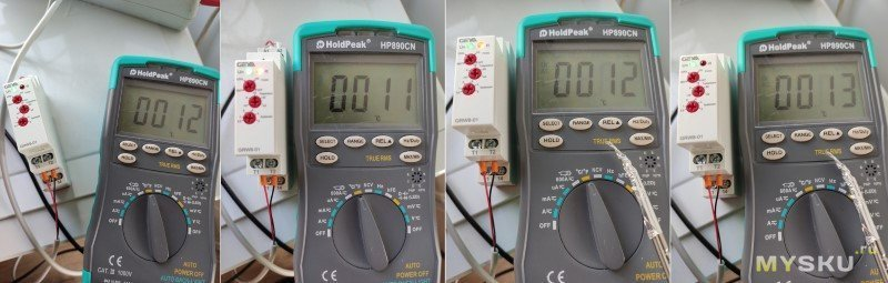 Термостат на дин-рейку с датчиком GEYA GRW8-01