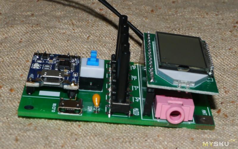 Новая версия набора для сборки FM  - радио на модуле LCD FM RX v2.0