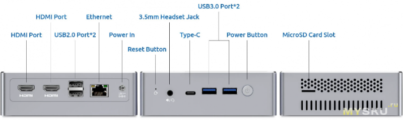 159.99$ Мини компьютер Bmax B2 Plus, 8GB DDR4, 128GB SSD