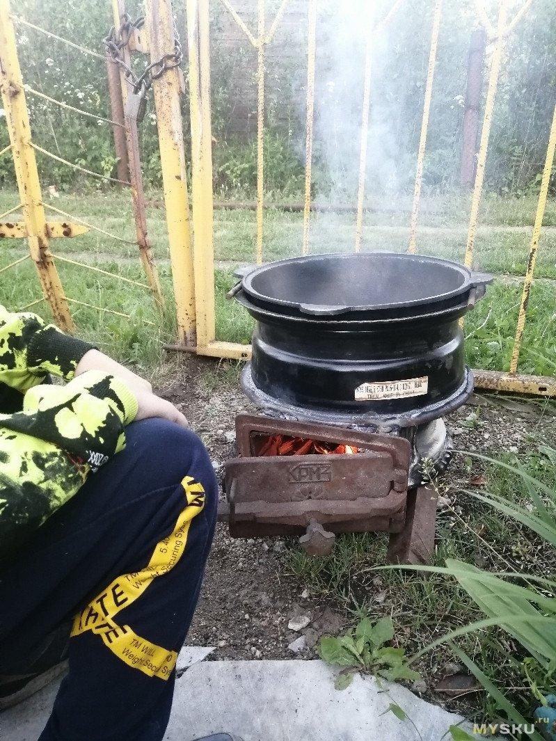 """""""Адская кухня"""" или Бюджетная печь для казана."""