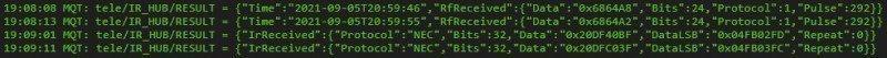 Управляем устройствами по HTTP с помощью пульта ДУ. Или шлюз ИК и 433МГц в HTTP запросы за 5 минут.